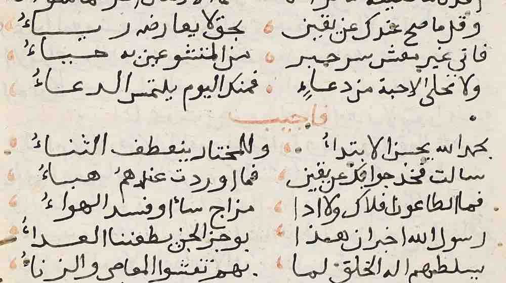 Accounts on Plague and Infectious Diseases from Three Arabic Manuscripts