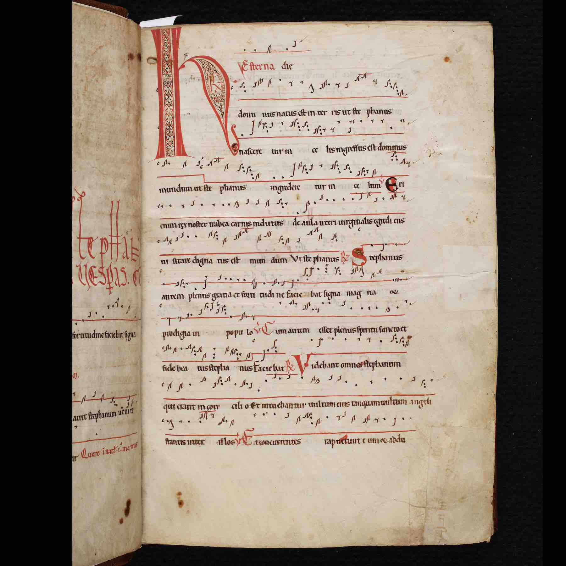12th-c. French Cistercian Antiphonary, Abbey of Our Lady of Gethsemani, Kentucky (<a href='https://w3id.org/vhmml/readingRoom/view/500922'>AGOC 1</a>)