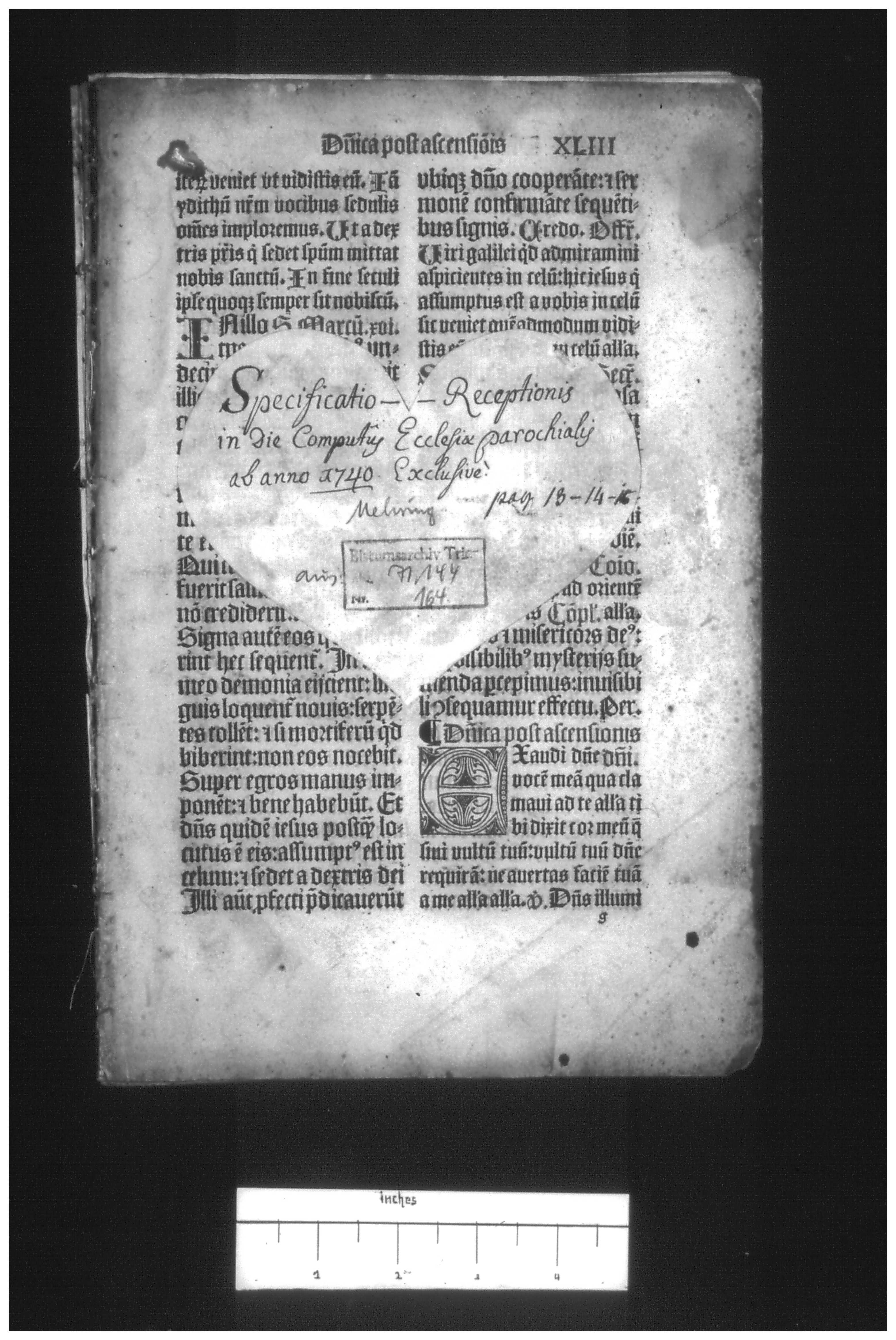 Microfilm of the 16th-c. Trier Missal, Bistumsarchiv, Trier
