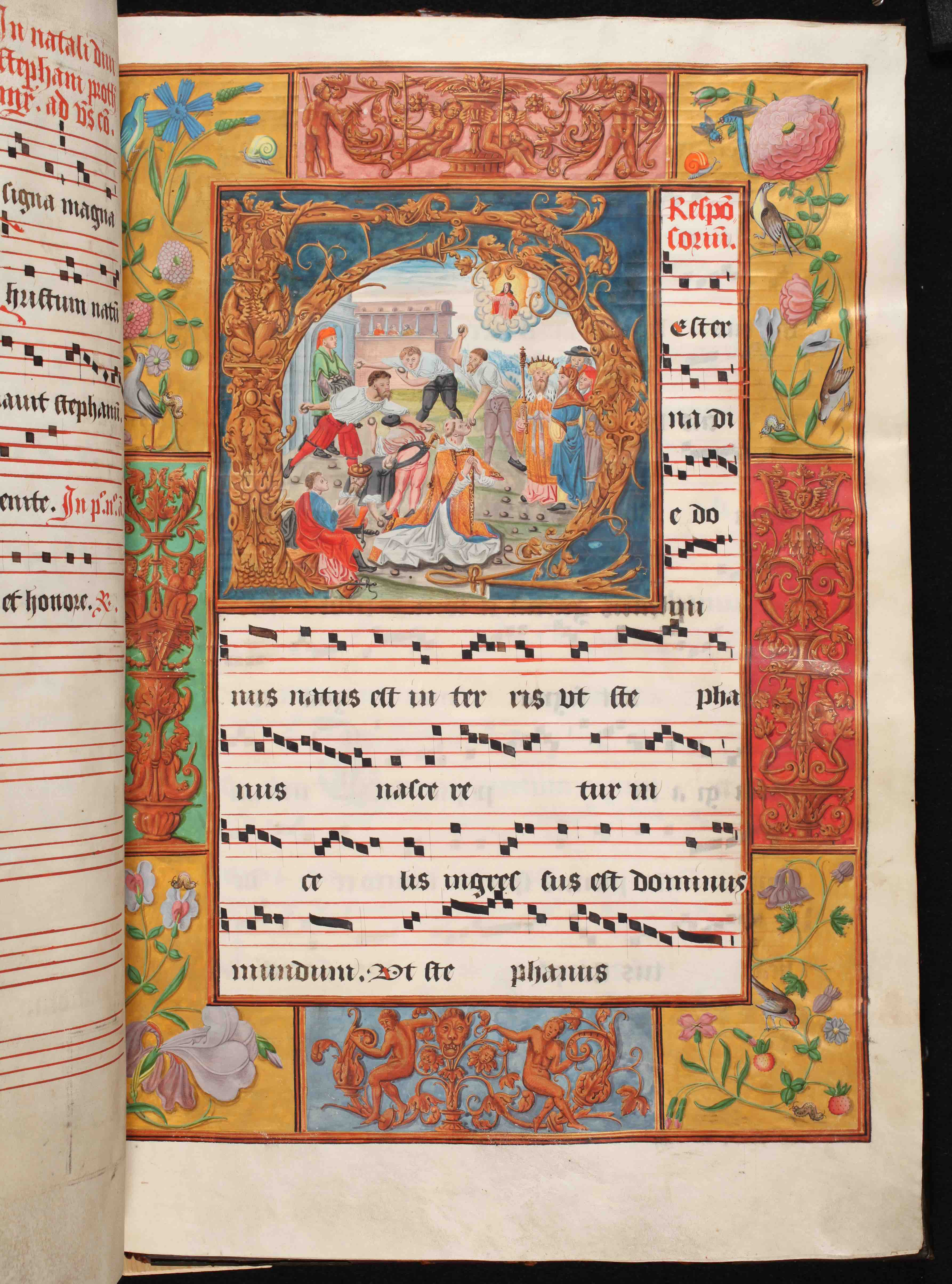 16th-century Antiphonary, Gethsemani Abbey (<a href='https://w3id.org/vhmml/readingRoom/view/500934'>AGOC 00013 002</a>)
